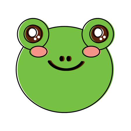 frog cute animal icon image vector illustration design  Illustration