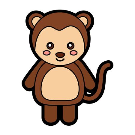 Monkey cute animal icon image. Vector illustration design.