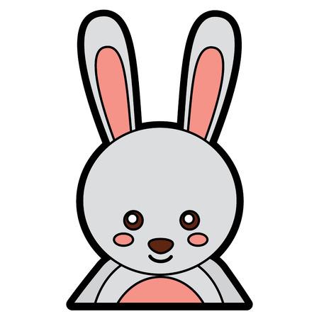 토끼 또는 토끼 귀여운 동물 아이콘 이미지입니다. 벡터 일러스트 레이 션 디자인.