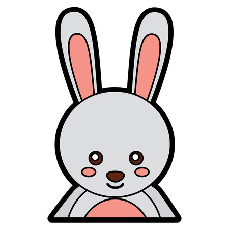 Rabbit or bunny cute animal icon image. Vector illustration design.
