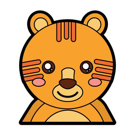 호랑이 귀여운 동물 아이콘 이미지 벡터 일러스트 디자인 일러스트