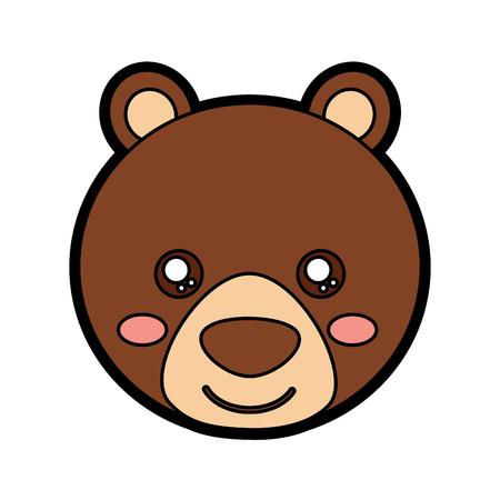 귀여운 동물 아이콘 이미지 벡터 일러스트 레이 션 디자인 곰