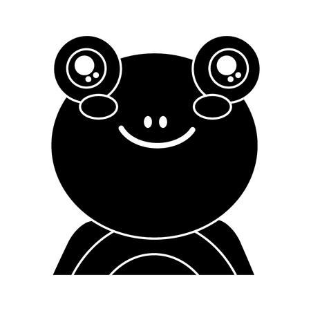 cute portrait frog animal baby s vector illustration pictogram design Illustration