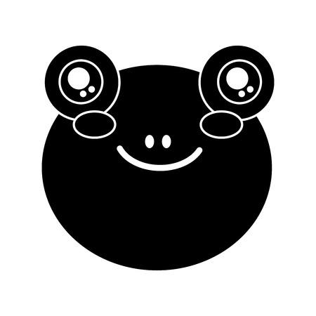 Mignon animal tête bébé bébé vecteur illustration conception de pictogramme Banque d'images - 93442656