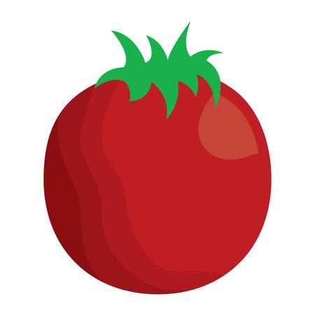 tomato vegetable nutrition food icon vector illustration Фото со стока - 93442678