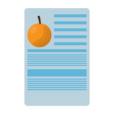 orange nutrition facts label template vector illustration Illusztráció