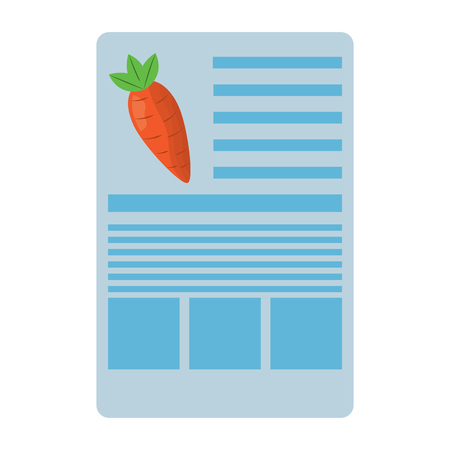carrot nutrition facts label template vector illustration