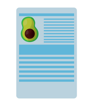 avocado nutrition facts label template vector illustration