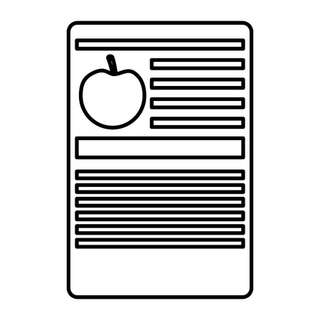 apple nutrition facts label template vector illustration