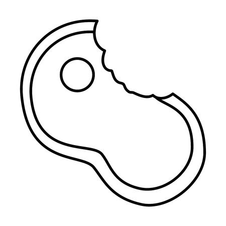 噛んだステーキフィレットミール食品新鮮なベクトルイラスト  イラスト・ベクター素材