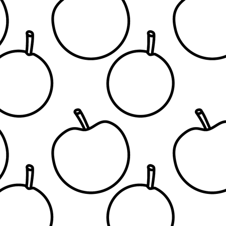 apple and orange fruit seamless pattern vector illustration