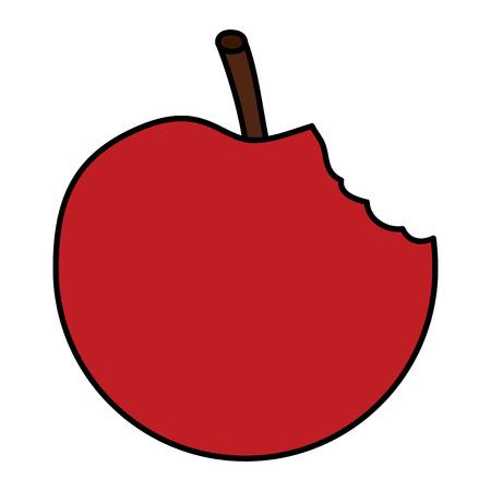Illustration of an apple bitten fruit icon.