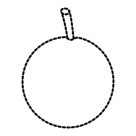 hele oranje fruit pictogram afbeelding vector illustratie ontwerp zwarte stippellijn Stock Illustratie