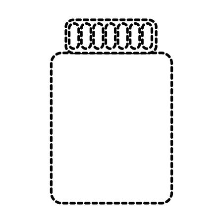 jar closed icon image vector illustration design  black dotted line