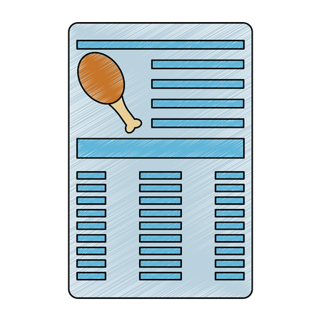 Chicken drumstick document information icon image vector illustration design