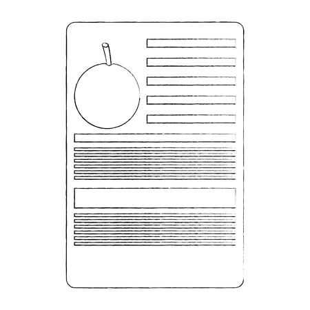 orange nutrition facts label template vector illustration sketch design Illustration
