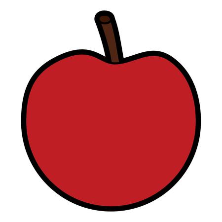 Apple fresh fruit food healthy vector illustration