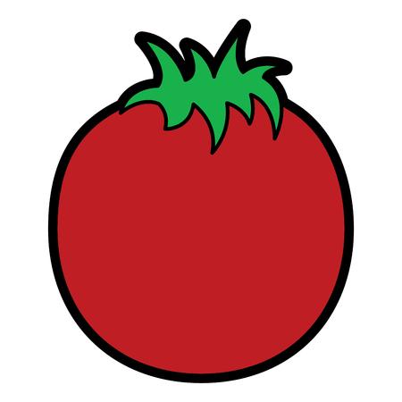 Tomaten Gemüse Ernährung Lebensmittel Symbol Vektor-Illustration Standard-Bild - 93445059