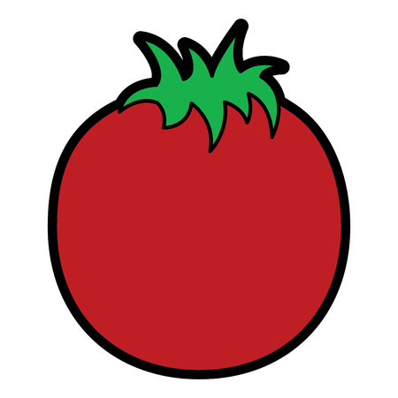Tomato vegetable nutrition food icon vector illustration Ilustração