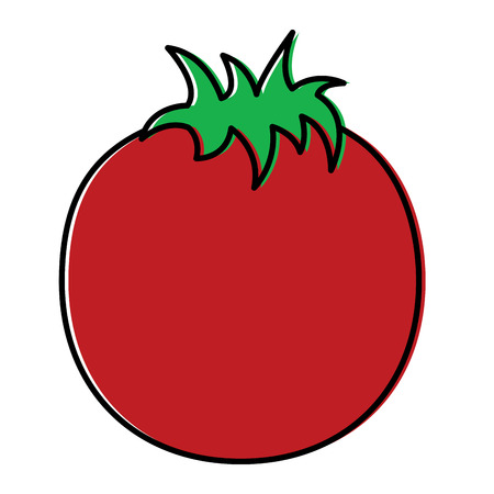 tomato vegetable nutrition food icon vector illustration Иллюстрация