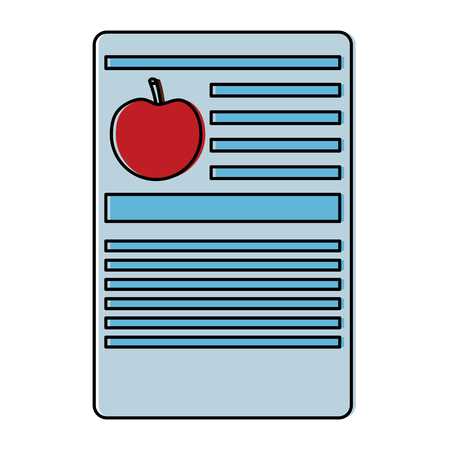 Apple nutrition facts label template vector illustration.