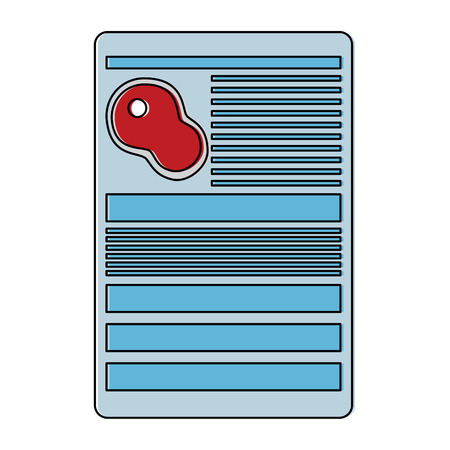 beef steak raw information document icon image vector illustration design