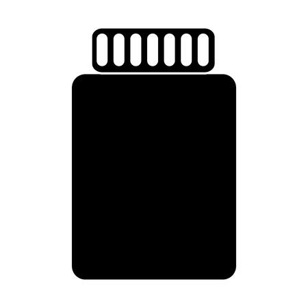 A jar closed icon image vector illustration design black and white