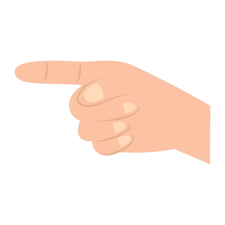 index finger pointing hand gesture icon image vector illustration design