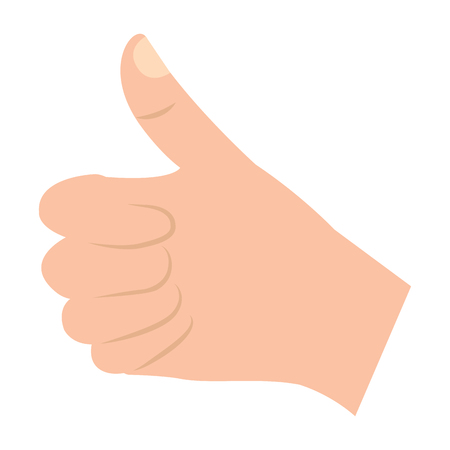 thumb up hand gesture icon image vector illustration design  Ilustrace