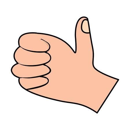 A hand thumb up like finger gesture vector illustration 向量圖像