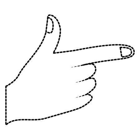 손가락을 가리키는 의해 나타내는 또는 지시 벡터 일러스트 레이 션 스티커 디자인