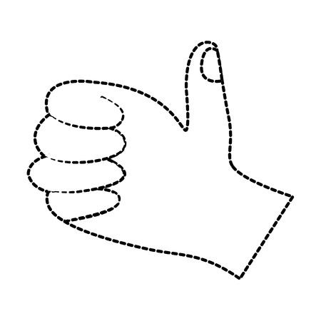 hand thumb up like  finger gesture vector illustration sticker design 向量圖像
