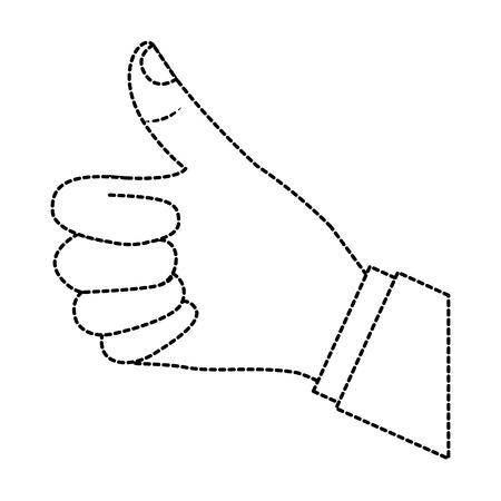 A hand thumb up like finger gesture vector illustration sticker design
