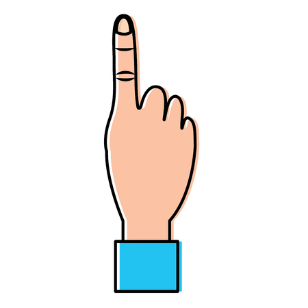 Hand show forefinger finger pointing first. Vector illustration design.