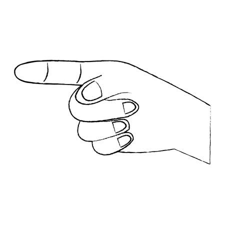 손가락을 가리키는 하 또는 방향을 나타내는 손. 벡터 일러스트 레이 션 디자인.