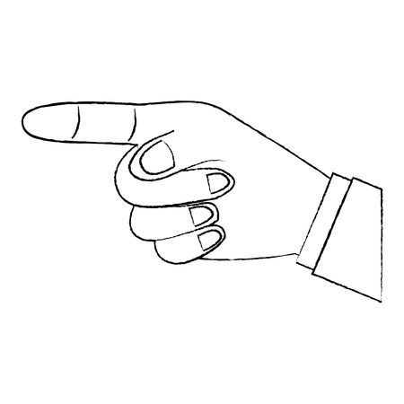 나타내는 또는 손가락 벡터 일러스트 디자인을 가리키는 의해 방향을 보여주는 손