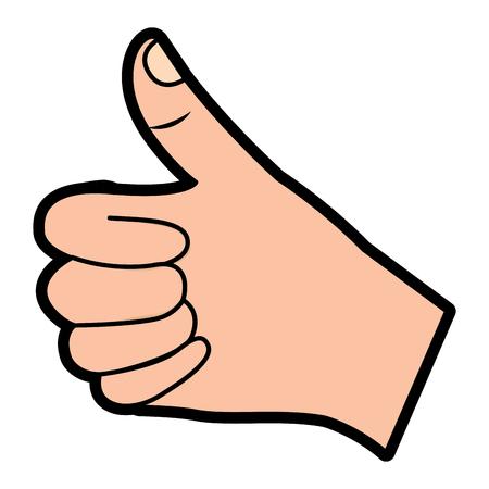 hand thumb up like finger gesture vector illustration  design