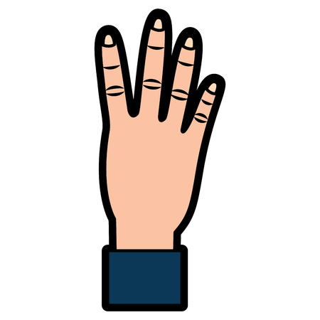 Hand met vier tellen gebaar vector illustratie ontwerp Stockfoto - 93453513