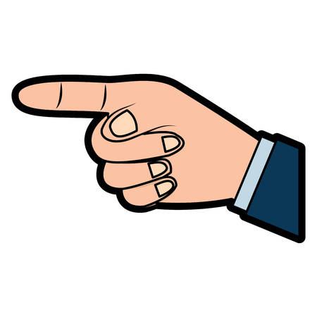 hand indicating or showing direction by pointing a finger vector illustration  design Illusztráció