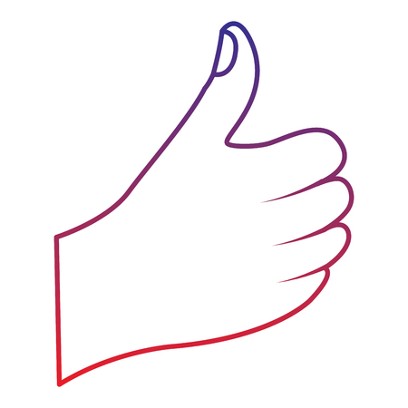 thumb up hand gesture icon image vector illustration design  Illustration