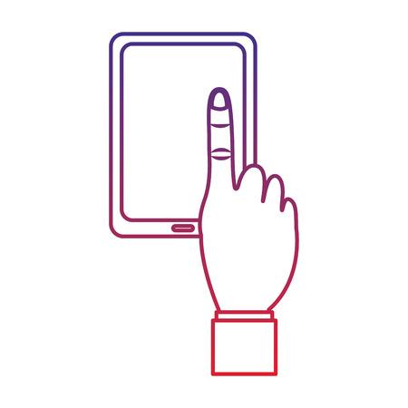 손 아이콘 이미지 벡터 일러스트 디자인 타블렛
