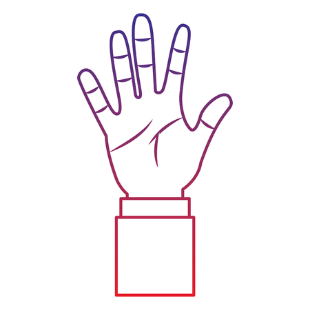 open hand gesture icon image vector illustration design