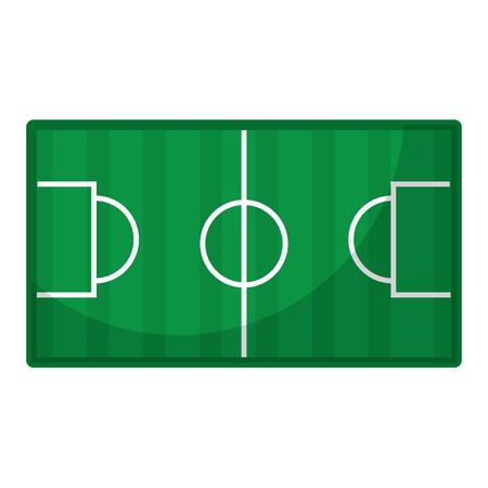 field topview football soccer icon image vector illustration design Ilustrace