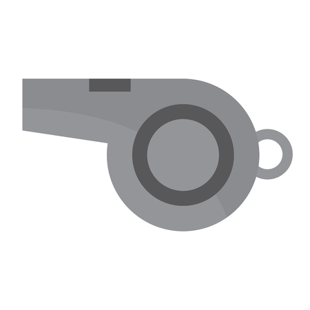 whistle sideview icon image vector illustration design  Ilustração
