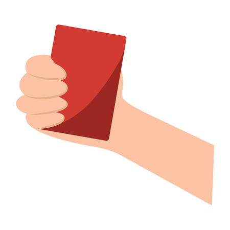 red card referee football soccer icon image vector illustration design
