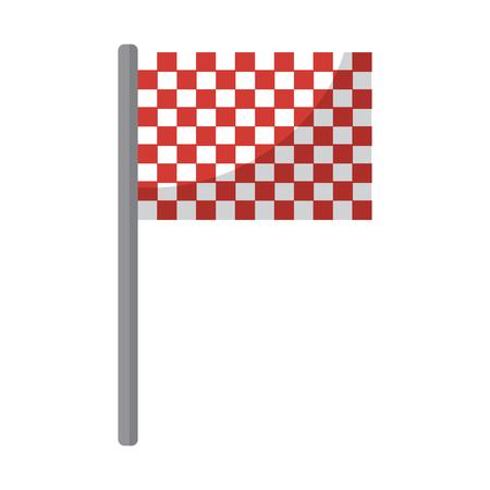 フラグチェッカーアイコン画像ベクトルイラストデザイン