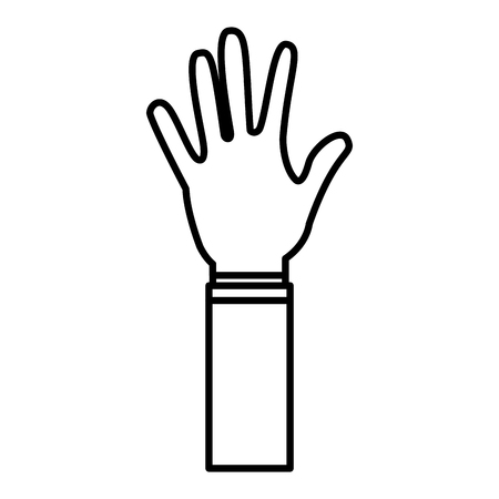 hand wearing glove icon image vector illustration design