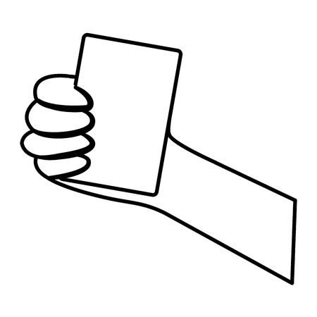 card hand hold icon image vector illustration design