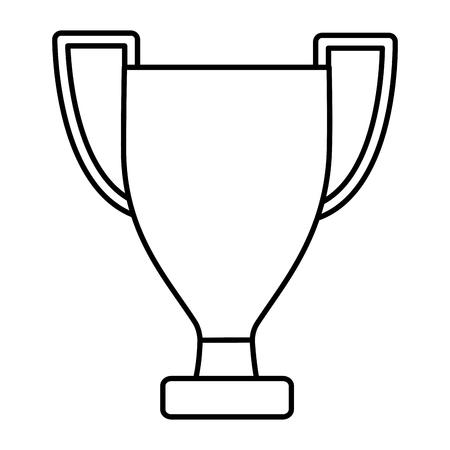 van het het pictogrambeeld van de trofeekop het vectorillustratieontwerp
