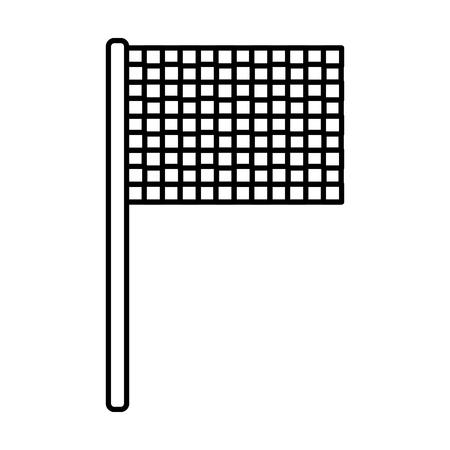 フラグチェッカーアイコン画像ベクトルイラストデザイン。  イラスト・ベクター素材
